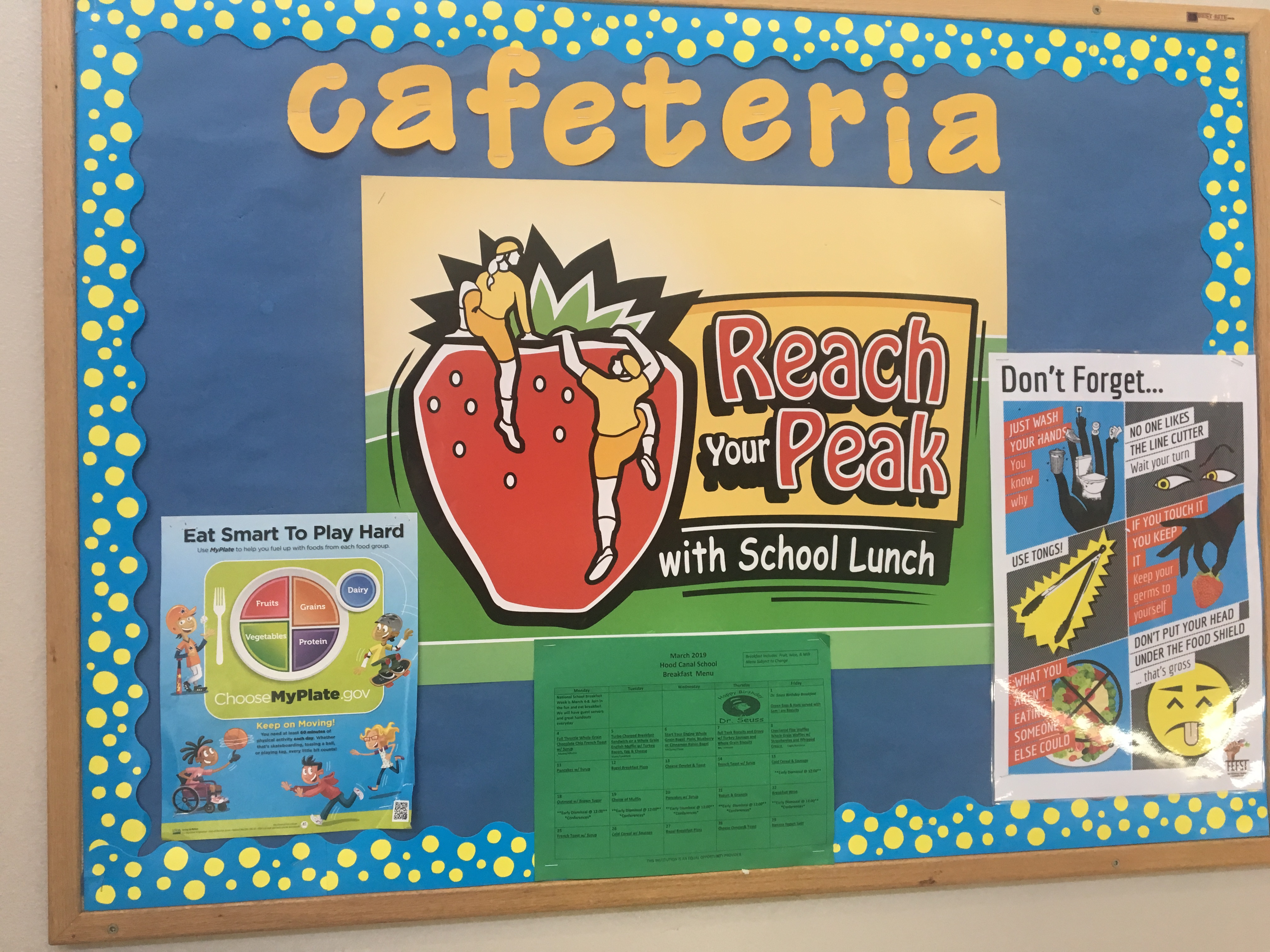 Lunchroom Bulletin Board
